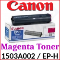 Canon EP-H Magenta High Capacity Original Toner Cartridge 1503A002 (4000 Pages) for Canon CLBP-360, CLBP-360PS, LBP-360, Apple Color LaserWriter 12/600, 12/660, Lexmark Optra C Pro, DEC ColorWriter LSR-2000, IBM CNP Color Printer