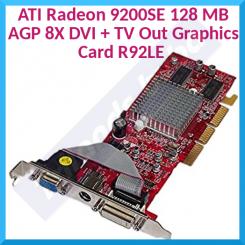 ATI Radeon 9200SE 128 MB AGP 8X DVI + TV Out Graphics Card R92LE (Refurbished)