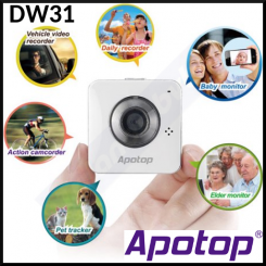 Apotop Apoeye DW31 Portable Wireless IP Camcorder & Monitoring Unit - for Vechile Recording, Baby Recording, Action Camrecorder, Pet Tracker