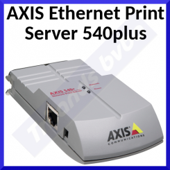 Axis 540+ Parallel Port Print Server - 10BaseT Ethernet - Parallel Port - Support on NetWare, NDS, NDPS, Unix, Windows NT, Windows for Workgroups, Win 95, Win 98, OS/2 Warp, LAN Manager, Apple EtherTalk - Refurbished
