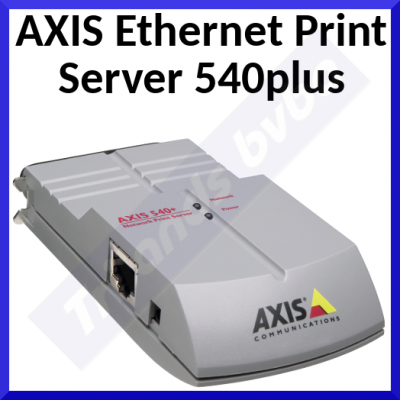 Axis 540+ Parallel Port Print Server - 10BaseT Ethernet - Parallel Port - Support on NetWare, NDS, NDPS, Unix, Windows NT, Windows for Workgroups, Win 95, Win 98, OS/2 Warp, LAN Manager, Apple EtherTalk - Refurbished