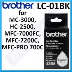 Brother LC-01BK Black Original Ink Cartridge (700 Pages) for Brother MC-3000, HC-2500, MFC-7000FC, MFC-7200C, MFC-PRO 700C