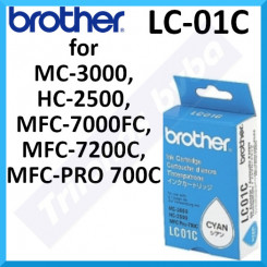Brother LC-01C Cyan Original Ink Cartridge (300 Pages) for Brother MC-3000, HC-2500, MFC-7000, MFC-7200, MFC-PRO700C