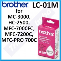 Brother LC-01M Magenta Original Ink Cartridge (300 Pages) for Brother MC-3000, HC-2500, MFC-7000, MFC-7200, MFC-PRO 700C
