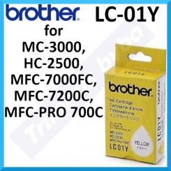 Brother LC-01Y Yellow Original Ink Cartridge (300 Pages)