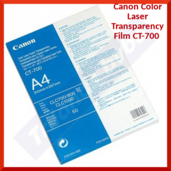 Canon Color Laser Transparency Film CT-700 (0605A001) - 210 mm X 297 mm (A4) - 50 Sheets Pack - New - Retail Pack (Stock Clearance)