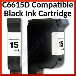 C6615D Compatible Black Ink Cartridge (310 Pages)