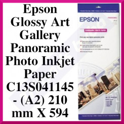 Epson Glossy Art Gallery Panoramic Photo Inkjet Paper C13S041145 - (A2) 210 mm X 594 mm (Special Art Galley Panoramic Size) - 194 grams/M2 - 10 Sheets/Pack