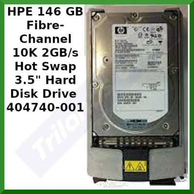 """HPE 146 GB Fibre-Channel 10K 2GB/s Hot Swap 3.5"""" Hard Disk Drive (0950-4383 / 404740-001) - 10000RPM - 2 Gbps - 8MB Cache - with Hot Swap Carrier Tray"""