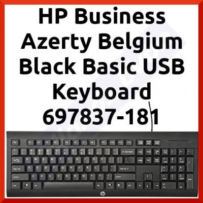 HP Business Azerty Belgium Black Basic USB Keyboard 697837-181