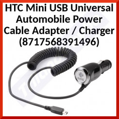 HTC Mini USB Universal Automobile Power Cable Adapter / Charger (8717568391496) - 12-24V Input - 5V Output (Adapt) for all Mini USB SmartPhones / Tab