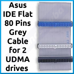 Asus IDE Flat 80 Pins Grey Cable for 2 UDMA drives (Total 3 X High Density Interfaces) - 20 cms long