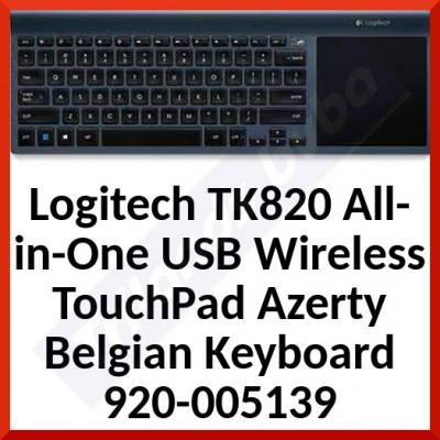 Logitech TK820 All-in-One USB Wireless TouchPad Azerty Belgian Keyboard 920-005139