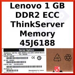 Lenovo 1 GB DDR2 ECC ThinkServer Memory 45J6188 - DDR2, DIMM, 240 Pins, 800Mhz, PC2-6400, CL6, Registred, ECC for ThinkServer RS-110, TS-100, TS-110