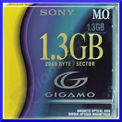 Sony 1.3GB (1300 MB) Magneto Optical MO Disk (EDM-G13C) - 2048 byte / Sector 3.5 Inch Disk Cartridge