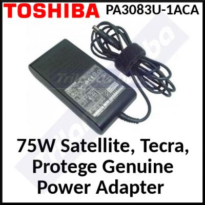 Toshiba 75W Genuine (Original) Power Adapter PA3083U-1ACA - Genuine Replacement Part for Toshiba Satellite, Tecra, Protege
