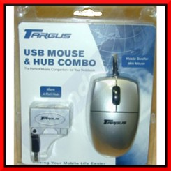 Targus (B0094) Micro USB Scoller Mouse Travel Mouse + Targus Micro Foldable 4-Port USB Hub - Special Clearance Price