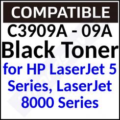 C3909A Compatible Black Toner Cartridge (15000 Pages) for HP LaserJet 5 Series, LaserJet 8000 Series