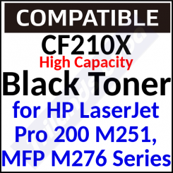 CF210X Compatible Black High Capacity Toner Cartridge (2400 Pages) for Pro 200 color M276nw, M251n, M251nw, M276n