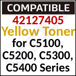 42127405 Compatible Yellow Toner Cartridge (5000 Pages) for C5100, 5100n, 5200, 5200n, 5200ne, 5300, 5300dn, 5300n, 5300nccs, 5400, 5400dn, 5400n