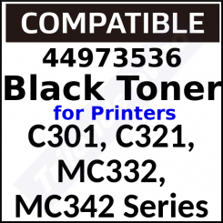 44973536 Compatible Black Toner Cartridge (2500 Pages) for C301dn, C321dn, MC332dn, MC332dn-L, MC342dn, MC342dn-L, MC342dnw, MC342dnw-L