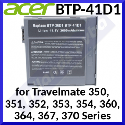 Acer TravelMate BTP-41D1 Li-Ion 6-Cell Battery 91.45S28.003 - Retail Pack