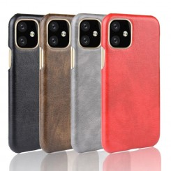 Apple - Back cover for mobile phone - leather - black - for iPhone XS Max
