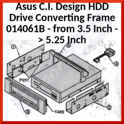 Asus C.I. Design HDD Drive Converting Frame 014061B - from 3.5 Inch -> 5.25 Inch