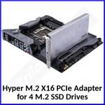 Asus Hyper Internal PCI Express 3.0 M.2 X16 Interface Card / Adapter 90MC05G0-M0EAY0 - (4 X M.2 SSD drives interface)