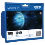 Brother LC-1280XL (2-Pack) High Capacity Black Original Ink Cartridge LC1280XLBKBP2 (2 X 1200 Pages) for Brother MFC-5910DW, MFC-6510DW, MFC-6710DW, MFC-6910DW