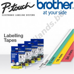 Brother 24MM Black on White PTouch Flexible Adhesive Tape TZEFX251 (24 mm X 8 Meters)