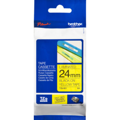 Brother 24MM (TZE651) Black on Yellow P-Touch Laminated Adhesive Tape TZE-651 (24 mm X 8 Meters)
