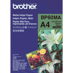 Brother BP60MA Matte Inkjet Photo Paper - (A4) 210 mm X 297 mm - 145 gms/M2 - 25 Sheets Pack - for all Inkjet Printers