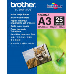 Brother Matte Inkjet Photo Paper (A3) BP60MA3 - 145 gms/M2 - 297 mm X 420 mm (A3) - 25 Sheets Pack