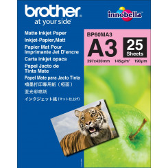 Brother BP60MA3 Matte Inkjet Photo Paper (A3) - 145 gms/M2 - 297 mm X 420 mm (A3) - 25 Sheets Pack