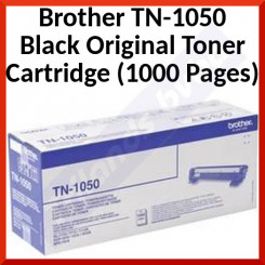Brother TN-1050 Black Original Toner Cartridge (1000 Pages)