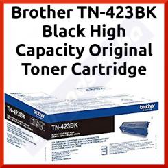 Brother TN-423BK Black High Capacity Original Toner Cartridge (6500 Pages)