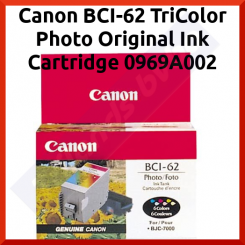 Canon BCI-62 TriColor Photo Original Ink Cartridge 0969A002 (220 Prints)