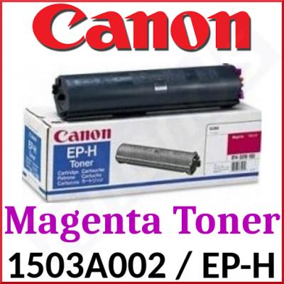 Canon EP-H Magenta High Capacity Original Toner Cartridge 1503A002 (4000 Pages) for Canon CLBP-360, CLBP-360PS, LBP-360, Apple Color LaserWriter 12/600, 12/660, Lexmark Optra C Pro, DEC ColorWriter LSR-2000, IBM CNP Color Printer