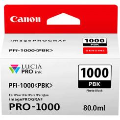Canon PFI-1000PBK Photo Black Original Ink Tank Cartridge 0546C001 (80 ml) for Canon ImagePROGRAF PRO-1000