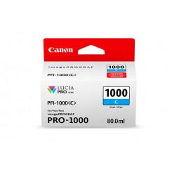 Canon PFI-1000C Cyan Original Ink Tank Cartridge 0547C001 (80 ml) for Canon ImagePROGRAF PRO-1000