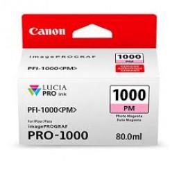 Canon PFI-1000PM Photo Magenta Original Ink Tank Cartridge 0551C001 (80 ml) for Canon ImagePROGRAF PRO-1000