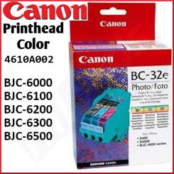 Canon BC-32E Photo Original Printhead Cartridge (4610A002) for Canon BJC-6000, BJC-6100, BJC-6200, BJC-6300, BJC-6500 - New - Retail Pack (Stock Clearance)