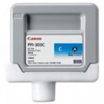 Canon PFI-303C Cyan Ink - 330 Ml. Cartridge - for IPF810, IPF810 Pro, IPF815, IPF820, IPF820 Pro, IPF825