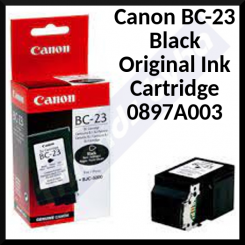 Canon BC-23 Black Original Ink Cartridge 0897A003 (900 Pages)