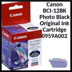 Canon BCI-12BK Photo Black Original Ink Cartridge 0959A002 (20 Photos)