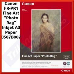 "Canon FR-PR1 Fine Art ""Photo Rag"" Inkjet A3 Paper 0587B007 - (A3) 297 mm X 420 mm - 188 gms/M2 - 20 Sheets Pack"