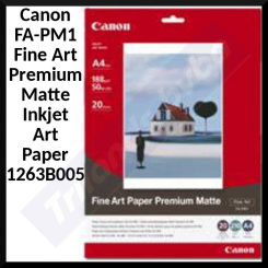 Canon FA-PM1 Fine Art Premium Matte Inkjet Art Paper 1263B005 - (A4) 210 mm X 297 mm - 210 gms/M2 - 20 Sheets Pack