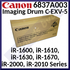 Canon C-EXV 5 Original Imaging Drum 6837A003 (21000 Pages) for Canon ImageRunner iR-1600, iR-1610, iR-1630, iR-1670, iR-2000, iR-2010 Series.