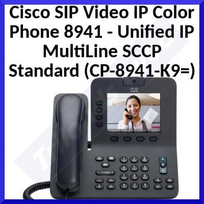 Cisco SIP Video IP Color Phone 8941 - Unified IP MultiLine SCCP Standard (CP-8941-K9=)